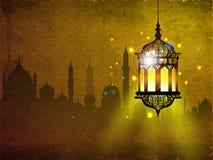 Helig månad för muslimsk gemenskap av Ramadan Kareem. Royaltyfri Bild