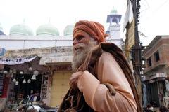 Helig man för indisk sadhu Arkivfoto