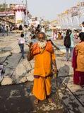 Helig man i Varanasi Fotografering för Bildbyråer