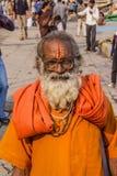 Helig man i Varanasi Royaltyfria Bilder