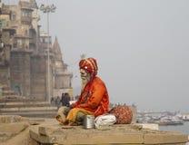 Helig man i Varanasi Royaltyfri Foto