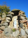 Helig Mary staty, Litauen Arkivfoton