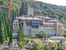 Helig montering för stor Lavra kloster av athos Grekland Royaltyfri Foto