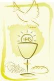 Helig nattvardsgång - bakgrund stock illustrationer