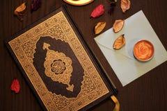Helig Quranislam royaltyfri bild