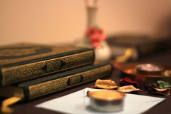 Helig Quranislam arkivfoto