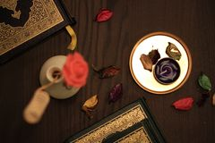 Helig Quranislam royaltyfri foto