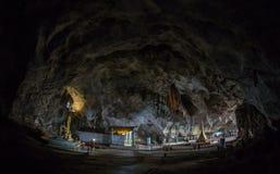 Helig staty av Saint Paul inom den underjordiska grottan Royaltyfria Bilder