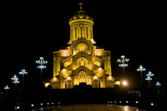 Helig Trinitydomkyrka av Tbilisi Royaltyfri Fotografi