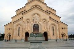 Helig Trinitydomkyrka Tbilisi royaltyfria foton