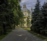 Helig uppstigningdomkyrka (Almaty) Royaltyfri Fotografi