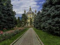 Helig uppstigningdomkyrka (Almaty) Fotografering för Bildbyråer