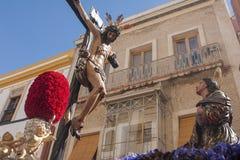 Helig vecka i Seville, brödraskap av hiniesta Arkivfoto
