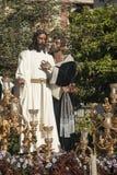 Helig vecka i Seville, Judas Kiss Arkivbilder