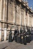 Helig vecka i Seville Nazarenes Royaltyfri Fotografi