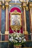 Helig vecka i Spanien, bilder av oskulder och kritiska anmärkningar av Chr royaltyfri bild