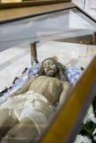 Helig vecka i Spanien, bilder av oskulder och kritiska anmärkningar av Chr arkivfoto