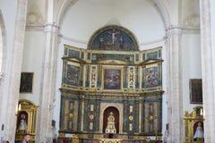 Helig vecka i Spanien, bilder av oskulder och kritiska anmärkningar av Chr royaltyfri foto