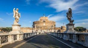 Heliga Angel Castle aka Castel Sant 'Angelo i Rome, Italien Rome arkitektur och gränsmärke arkivfoton