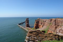 Heligoland. Red sandstone cliffs at Heligoland island in the North Sea royalty free stock photos