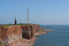 Heligoland. Red sandstone cliffs at Heligoland island in the North Sea stock image