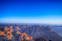 Heligt berg Sinai royaltyfria foton