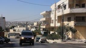 Heligt land. Betlehem. Palestinsk nationell myndighet. Ambulans arkivfilmer