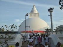 Heligt ställe av Kataragama i Sri Lanka Royaltyfri Bild
