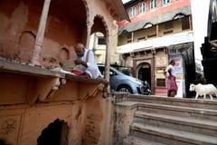 Heligt ställe Mathura Arkivbild
