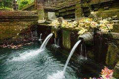 Heligt vårvatten i tirtaempul, bali, indonesia Arkivbild