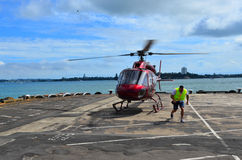 Helihaven van het helikopter de landende stootkussen Royalty-vrije Stock Afbeeldingen