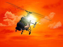 helikopter stock illustrationer