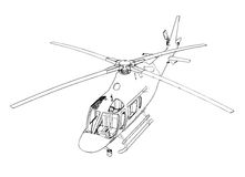 Helikopter royaltyfri illustrationer