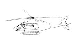 Helikopter vektor illustrationer