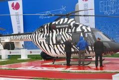 Helikopter bij maks-2013 Stock Afbeelding