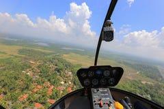 Helikopter binnen mening Royalty-vrije Stock Afbeeldingen