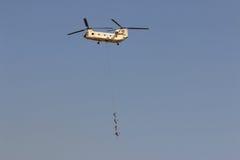 Helikopter CH-47 przy airshow w Kair Egipt Fotografia Stock