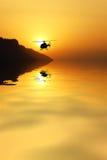 Helikopter in de hemel Royalty-vrije Stock Foto's