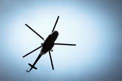 Helikopter in de hemel Royalty-vrije Stock Afbeeldingen
