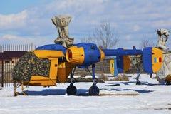 Helikopter die in de winter wordt geplaatst Stock Afbeeldingen