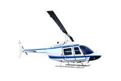 Helikopter die op wit wordt geïsoleerdd Stock Foto's