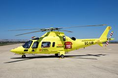 Helikopter för Inaer Agusta A109 maktresque arkivfoto