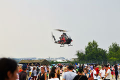 Helikopter för Klocka KOBRA AH1-F på SNEDHET 2015 Arkivbild