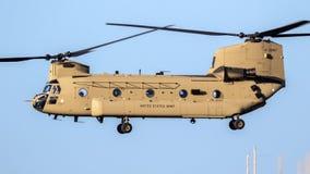 Helikopter för militär CH-47 Chinook Royaltyfria Bilder