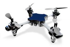 helikopter för quadro 3d på en vit bakgrund Fotografering för Bildbyråer