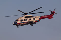 Helikopter för räddningsaktion EC225 fotografering för bildbyråer