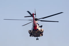 Helikopter för räddningsaktion EC225 arkivbild