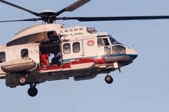 Helikopter för räddningsaktion EC225 royaltyfri bild