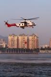 Helikopter för räddningsaktion EC225 arkivfoton