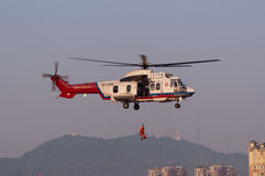 Helikopter för räddningsaktion EC225 royaltyfria bilder